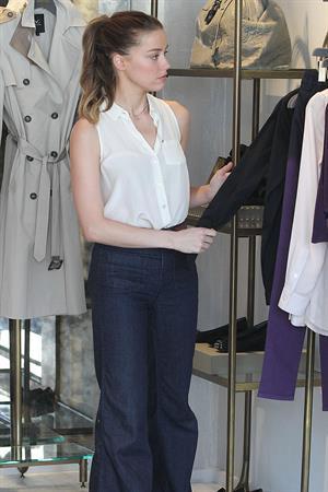 Amber Heard Shops at Monika Chiang Store in Los Angeles - October 20, 2012