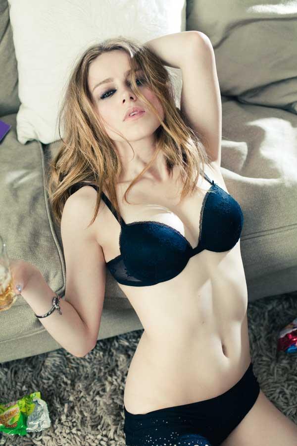 Carla Nieto in lingerie