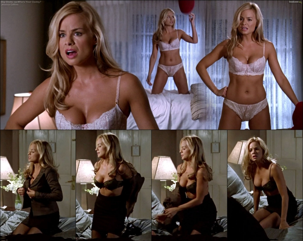 Jessica Collins in lingerie