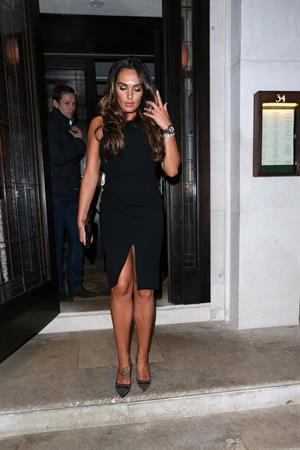 Tamara Ecclestone enjoys a night out in London (12.04.2013)