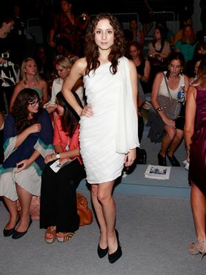 Troian Bellisario at Spring 2013 Mercedes-Benz Fashion Week, September 6, 2012