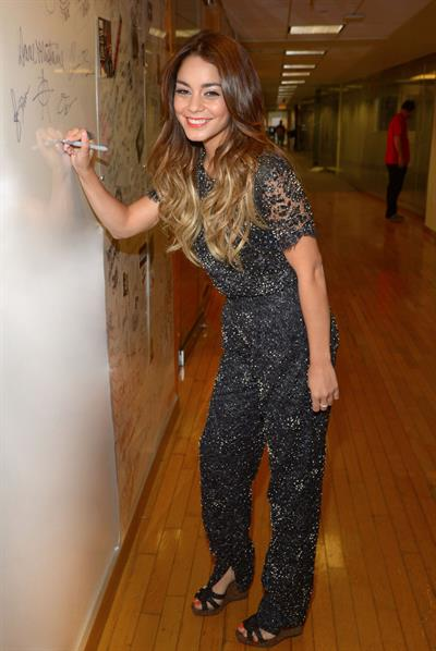 Vanessa Hudgens Visits SiriusXM Studios in New York - August 9, 2013