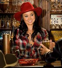 Kelley Thompson with her Red Cowgirl Hat