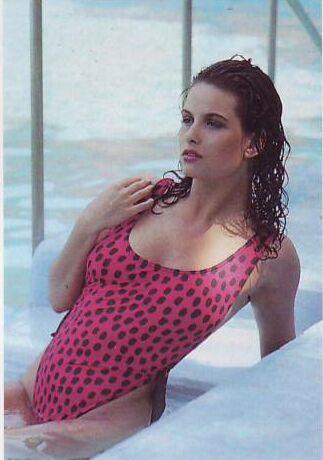Claire Louise Hickory in a bikini