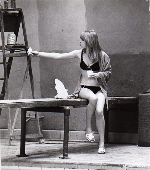 Jane Asher in a bikini
