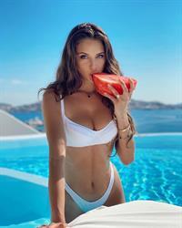 Carina Zavline white bikini