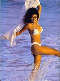 Lela Rochon in a bikini