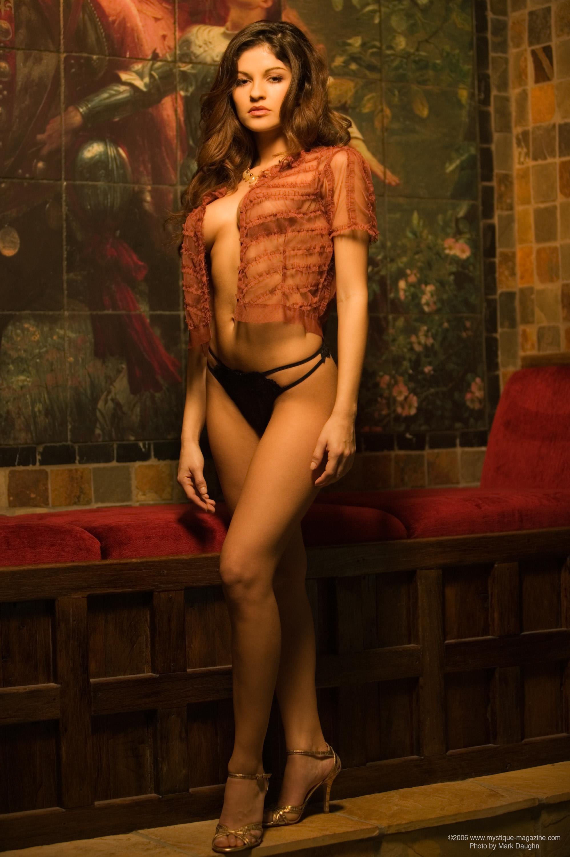 Andrea Marin in lingerie