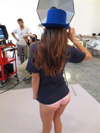 Lorry Plasterer in lingerie