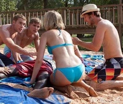Sara Paxton in a bikini - ass