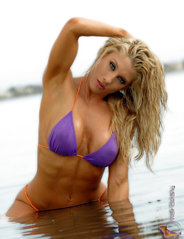 Jen Cook in a bikini