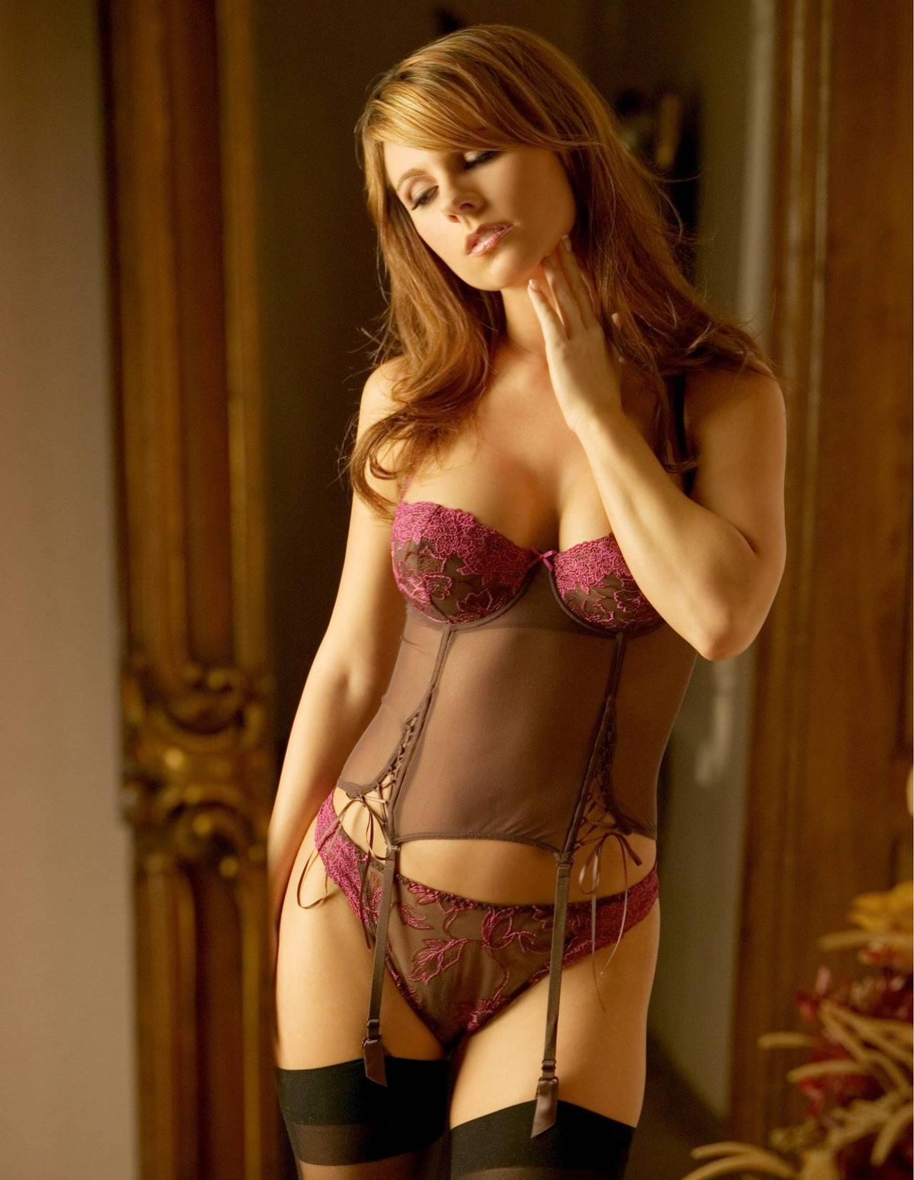 Valerie Baber in lingerie