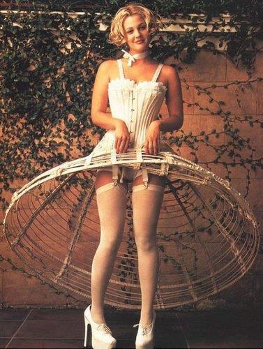 Drew Barrymore in lingerie
