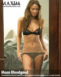 Moon Bloodgood in lingerie