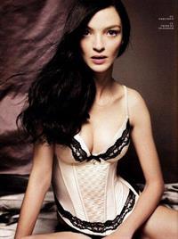 Mariacarla Boscono in lingerie