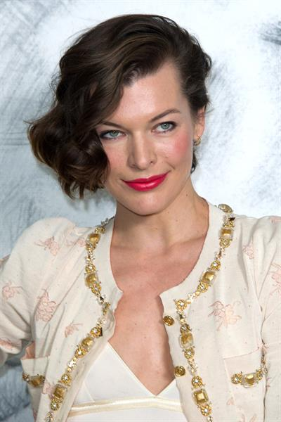 Milla Jovovich - Chanel Show at Paris Fashion Week Haute Couture F/W 2012/13 (July 3, 2012)