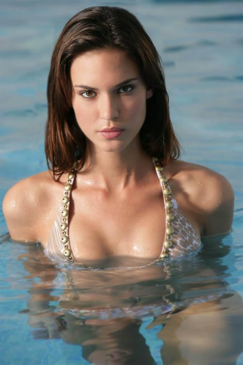 Odette Yustman in a bikini