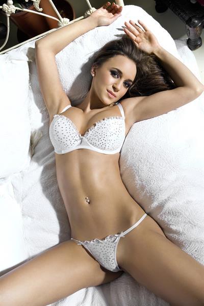 Rosie Jones in lingerie