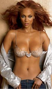 Tyra Banks in lingerie