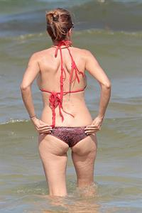 Rita Rusic in a string bikini in Miami
