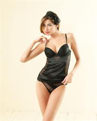 Aída Yéspica in lingerie