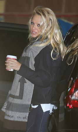 Pamela Anderson At ITV Studios in London 03.01.13