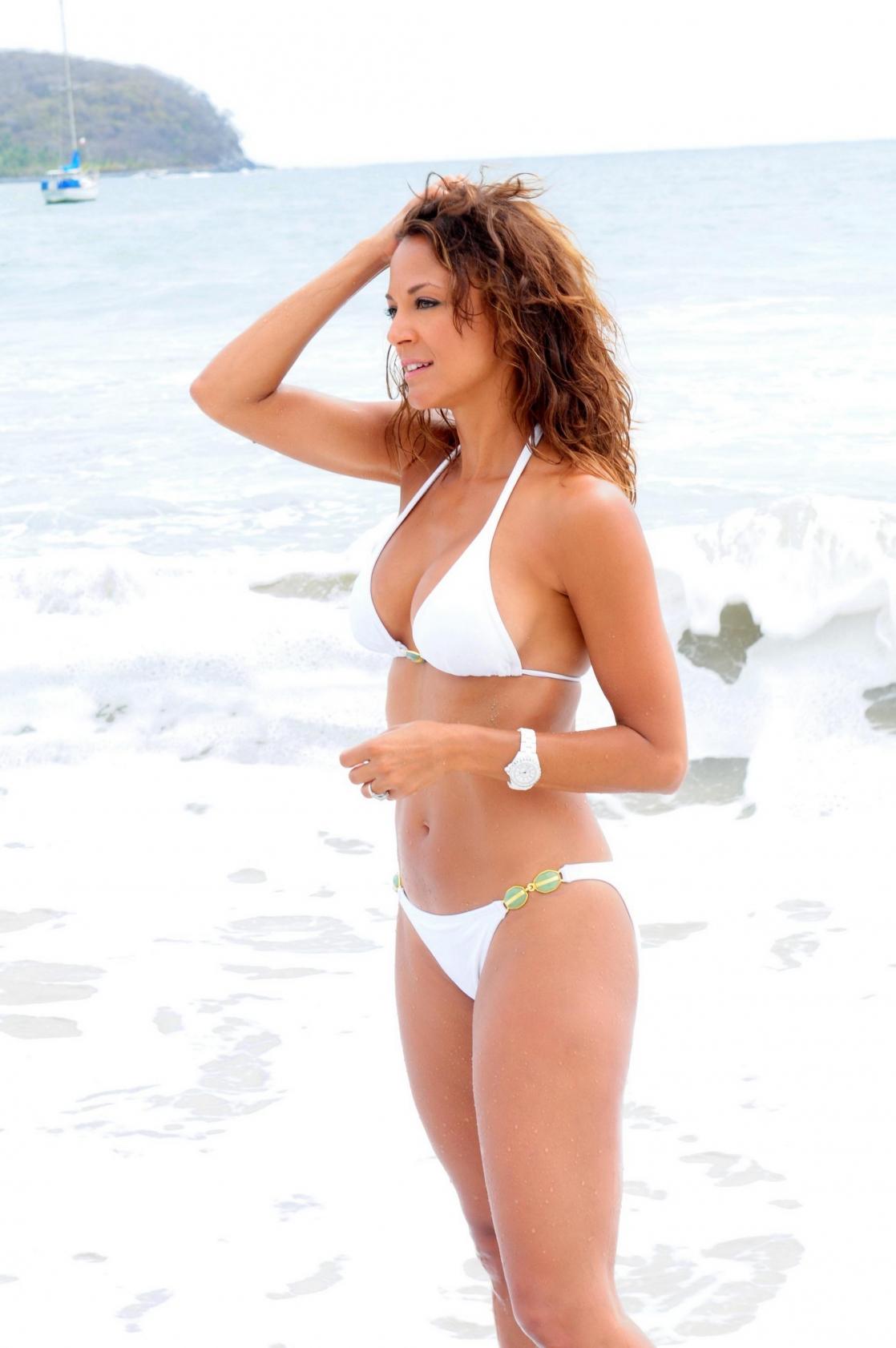 Eva LaRue in a bikini