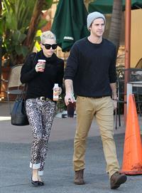 Miley Cyrus at Starbucks in Toluca Lake 12/22/12